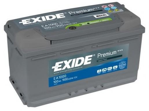 EXIDE EA1000 Аккумуляторная батарея Premium 100Ah 900A 353х175х190 (-/+)