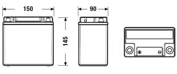 EXIDE EK151 Аккумулятор Start&Stop Auxiliary 12V 14Ah 200A 150x90x145 полярность ETN1 клемы Малый конус креплени