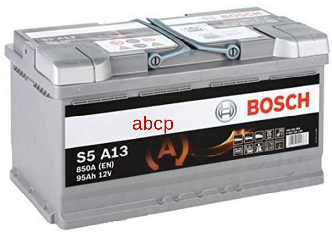 Bosch 0092S5A130 Аккумуляторная батарея S6 AGM [12V 95Ah 850A B13] 0092S60130