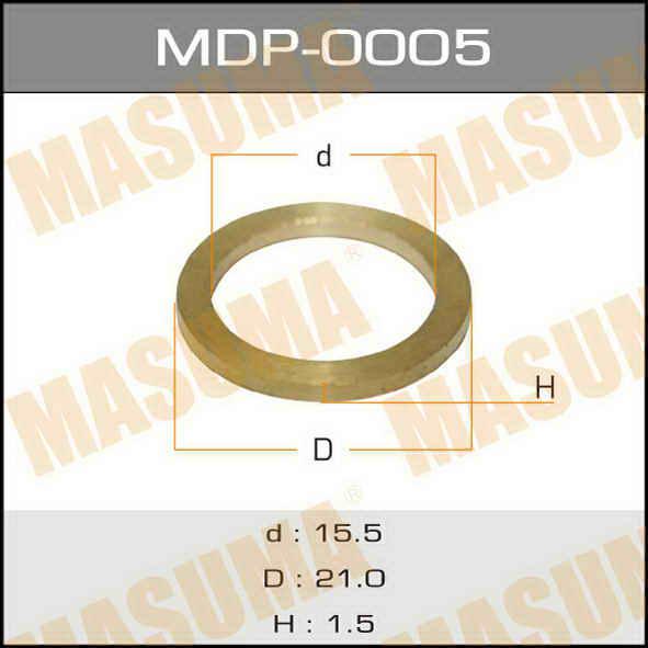 Masuma MDP-0005 Шайбы для форсунок (лат.) 15,5х21х1,5 (уп. 20шт.)
