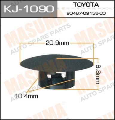 Masuma KJ-1090 Клипса крепежная 1090-KJ (уп,50шт)