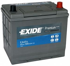 EXIDE EA654 Аккумуляторная батарея Premium 65Ah 580A 230x170x225 (-+)