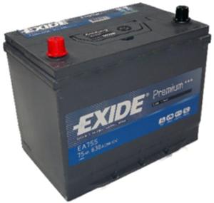 EXIDE EA755 Аккумуляторная батарея Premium 75Ah 540A 272x170x225 (+/-)
