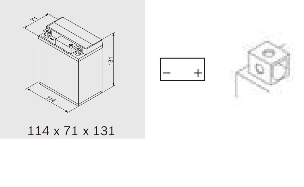 Bosch 0092M60060 Аккумулятор M 6 AGM technology - 12 volt (M6 006), 6 Ач Y5 114x71x131