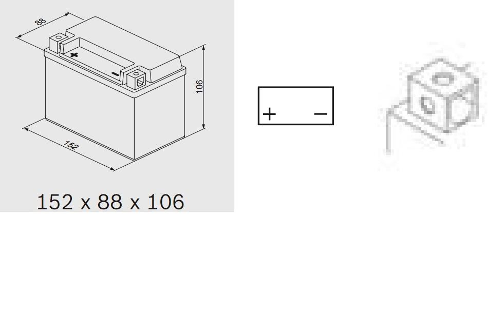 Bosch 0092M60100 Аккумулятор M 6 AGM technology - 12 volt (M6 010), 8 Ач Y5 152x88x106