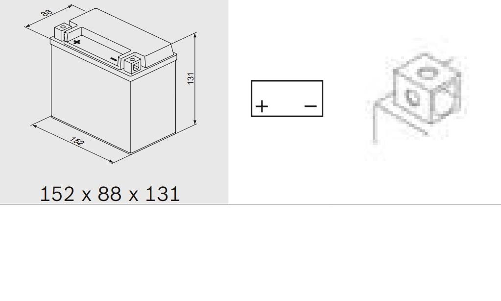 Bosch 0092M60140 Аккумулятор M 6 AGM technology - 12 volt (M6 014), 10 Ач Y5 152x88x131