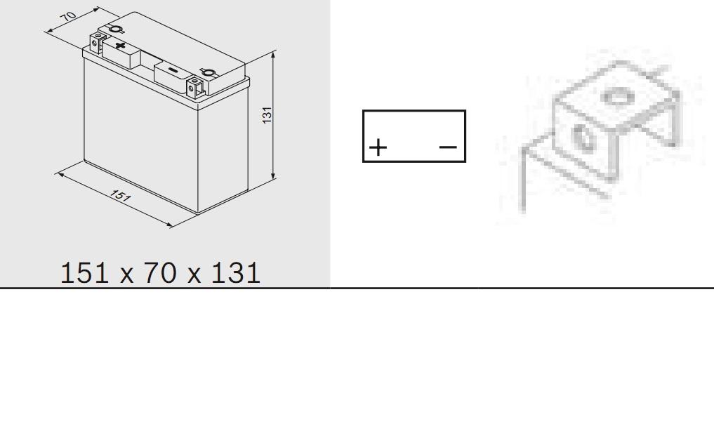 Bosch 0092M60190 Аккумулятор M 6 AGM technology - 12 volt (M6 019), 12 Ач Y11 151x70x131