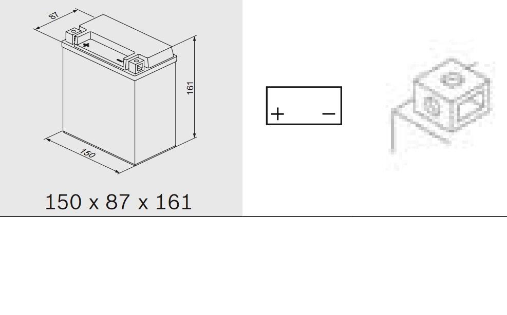 Bosch 0092M60220 Аккумулятор M 6 AGM technology - 12 volt (M6 022), 14 Ач 150x87x161