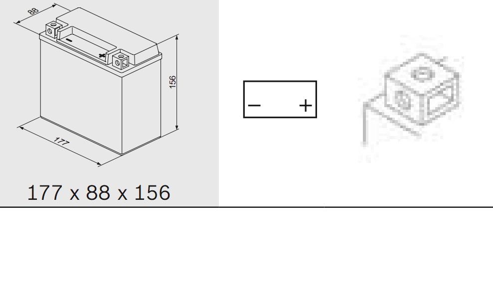 Bosch 0092M60230 Аккумулятор M 6 AGM technology - 12 volt (M6 023), 18 Ач Y4 177x88x156