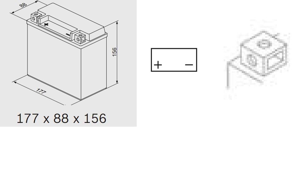 Bosch 0092M60240 Аккумулятор M 6 AGM technology - 12 volt (M6 024), 18 Ач Y4 177x88x156