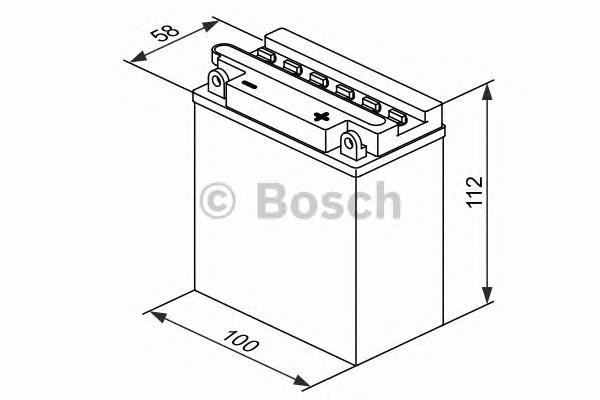 Bosch 0092M4F150 Аккумулятор M 4 FreshPack - 12 volt (M4 F15), 3 Ач Y6 100x58x112