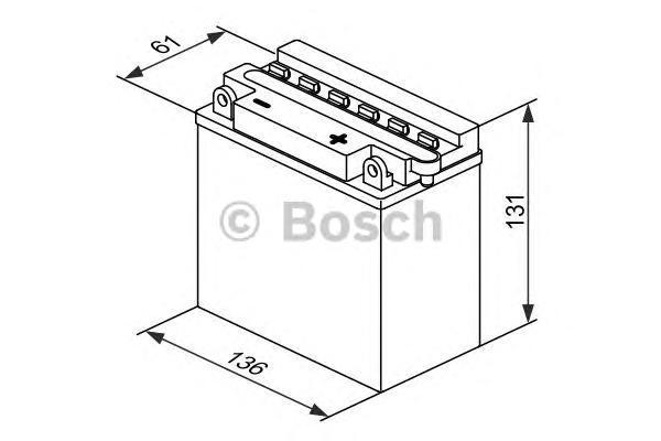 Bosch 0092M4F190 Аккумулятор M 4 FreshPack - 12 volt (M4 F19), 6 Ач Y6 136x61x131