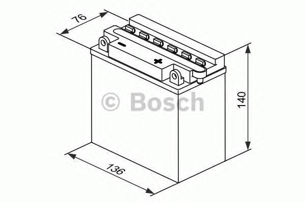 Bosch 0092M4F260 Аккумулятор M 4 FreshPack - 12 volt (M4 F26), 9 Ач Y6 136x76x140