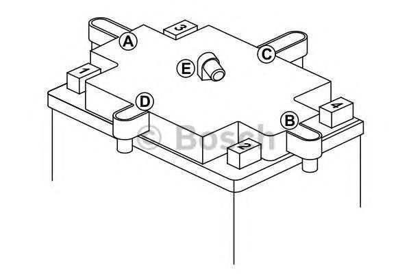 Bosch 0092M4F340 Аккумулятор M 4 FreshPack - 12 volt (M4 F34), 14 Ач 136x91x166