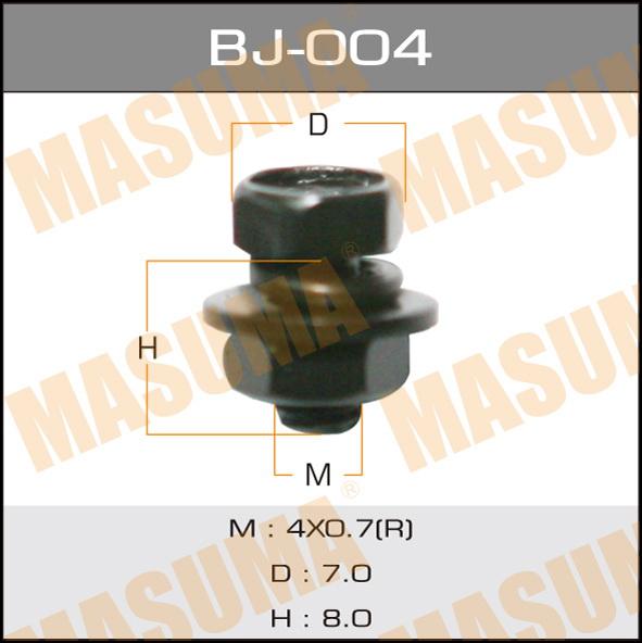 Masuma BJ-004 Болт с гайкой М 4x8x0.7, уп.15шт