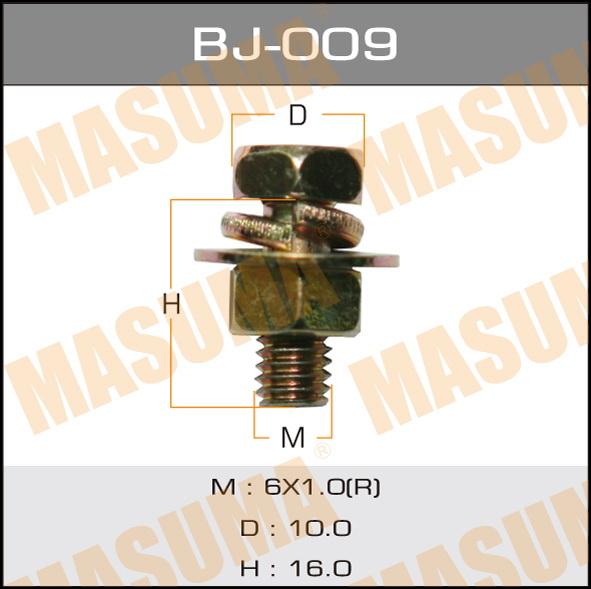 Masuma BJ-009 Болт с гайкой М 6x16x1.0, уп.6шт