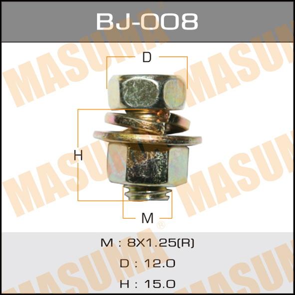 Masuma BJ-008 Болт с гайкой М 8x15x1.25, уп.4шт